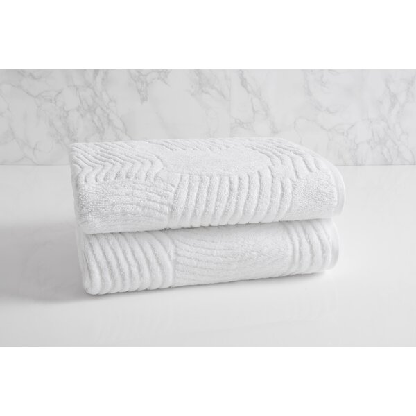 Dynasty Wave Textured Jacquard 100% Cotton Bath Towel by Natori